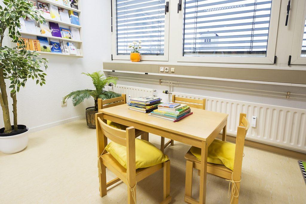Sitz- und Spielecke für Kinder bei Augenärztin Dr. med. Koulen (Fotograf: Markus Palzer)